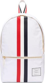 Nylon Backpack W Printed Rubber Stripes
