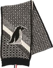 Penguin Mohair & Wool Jacquard Scarf