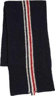 Stripe Intarsia Wool & Mohair Knit Scarf