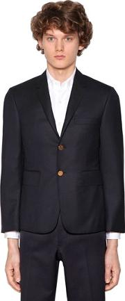 Twill Wool Classic Blazer Jacket