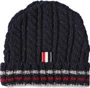 Wool Cable Knit Beanie Hat
