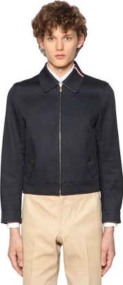 Zip Up Cotton Mackintosh Jacket