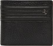 Textured Leather Coin Pocket Wallet