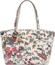 Small Parker Floral Printed Leather Tote