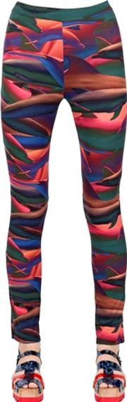 Dolphin Printed Stretch Lycra Leggings