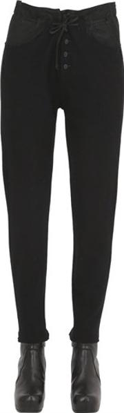 Boiled Wool & Leather Pants