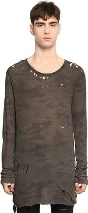 Destroyed Camouflage Jersey T Shirt