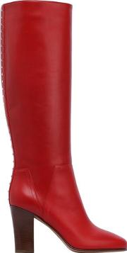 85mm Lovestud Leather Boots