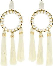 The Maxi Alma Tassel Hoop Earrings