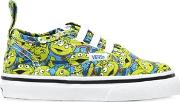 Aliens Printed Cotton Canvas Sneakers