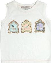Animal Patches Cotton Jersey Top