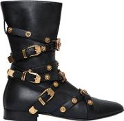 10mm Studded Leather Ankle Boots