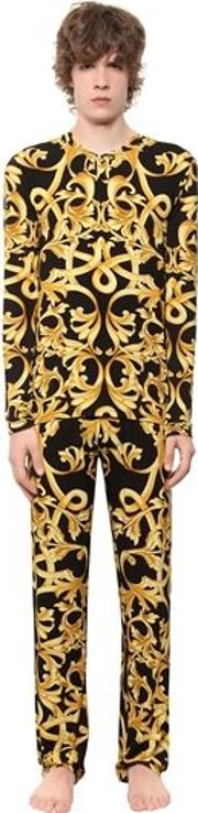 Baroque Printed Viscose Pajamas