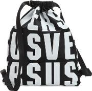 Lettering Nylon Backpack