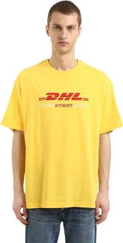 Dhl Cotton Jersey Double T Shirt
