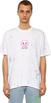 Lucky Pig Spotted Cotton Jersey T Shirt