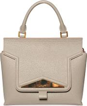 Grained Leather Top Handle Bag