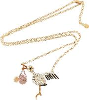 New Born Baby Girl Stork Necklace