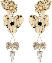 Pansy & Spikes Clip On Earrings