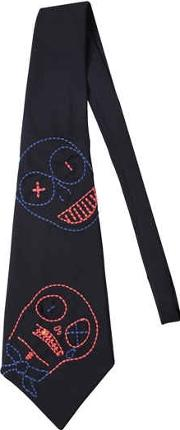 Monster Embroidered Tie