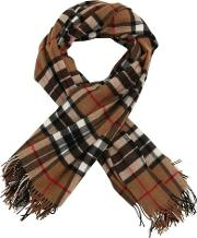 Wool Plaid Check Scarf