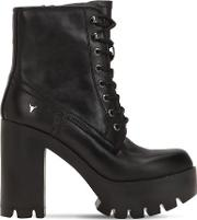 120mm Eline Leather Boots