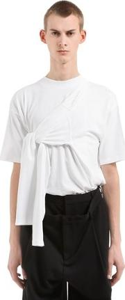 4 Sleeves Cotton Jersey T Shirt