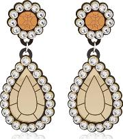 Gold Diamonds Drop Earrings