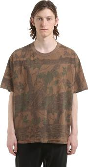 Forest Printed Cotton Jersey T Shirt