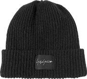 Mixed Wool Knit Ribbed Beanie Hat