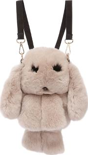 Rabbit Fur & Suede Backpack