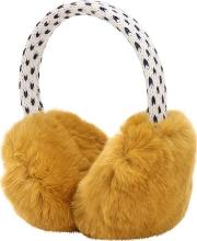 Wool Blend Knit & Fur Earmuffs