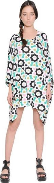 Floral Printed Cotton Jersey Dress