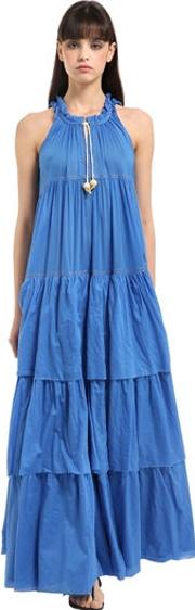Layered Cotton Voile Maxi Dress