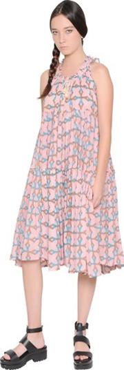 Printed Light Cotton Voile Dress