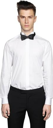 Cotton Poplin Wing Tip Evening Shirt