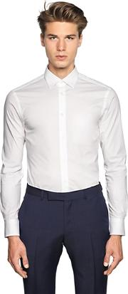 Slim Fit Stretch Cotton Poplin Shirt