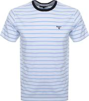 Portree Stripe Logo T Shirt