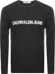 Jeans Long Sleeved Logo T Shirt