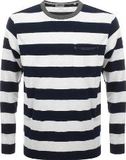 Long Sleeve Ringer Bar Striped T Shirt