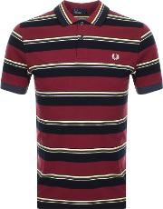Striped Polo T Shirt