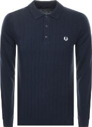 Textured Knit Polo Jumper