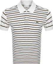 Short Sleeved Strip Polo T Shirt