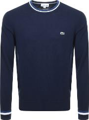 Tipped Crew Neck Knit Jumper