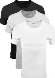 Triple Pack Crew Neck T Shirt