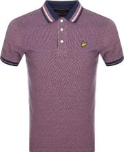 Oxford Tipped Polo T Shirt Pink