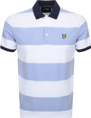 Wide Striped Polo T Shirt