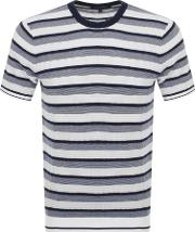 Stripe Crew Neck T Shirt