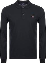 Paul And Shark Long Sleeved Polo T Shirt
