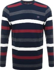 Paul And Shark Long Sleeved Striped T Shirt